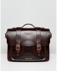 Dr. Martens Leather Satchel 15 Inch - Brown