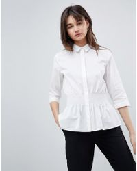 SELECTED - Shirt With Waist Detail - Lyst