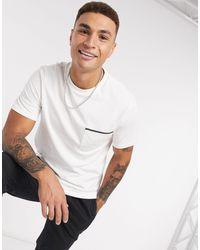 River Island T-shirt avec poche - Écru - Blanc