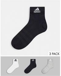 adidas Originals Набор Из 3 Пар Носков До Щиколотки Разных Цветов Adidas Training-черный Цвет