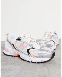 New Balance Кроссовки Белого И Персикового Цветов 530-светло-бежевый - Многоцветный