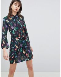UNIQUE21 - Printed Shirt Dress - Lyst