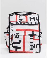 HUNTER - Original Foldable Backpack In Logo Print - Lyst