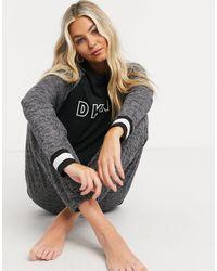 DKNY Ensemble jogger et t-shirt à manches longues en jersey - Noir