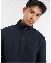 Burton Half-zip Funnel-neck Sweatshirt - Blue