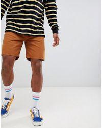 Weekday - Vacant Denim Shorts Tobacco - Lyst