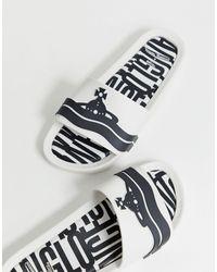 Vivienne Westwood For Melissa – e Slider mit kontrastierendem Logo - Weiß