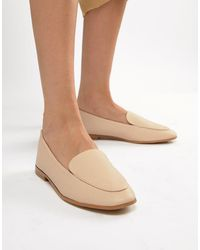 New Look High Vamp Leather Look Loafer - Pink