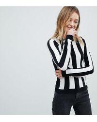 Monki - Colour Stripe Knitted Jumper - Lyst