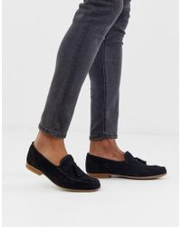 ASOS Loafers In Black Suede