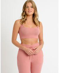 Chelsea Peers Soft Jersey Lounge Crop Top - Pink