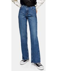 TOPSHOP Relaxed Flare Jean - Blue