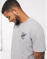 Fresh Ego Kid Co-ord Waffle T-shirt - Grey