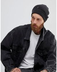 AllSaints - Trias Beanie In Black - Lyst