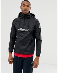 Ellesse Ion - Schwarze Jacke zum Überziehen mit reflektierendem Logo