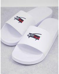 Tommy Hilfiger Белые Шлепанцы С Логотипом -белый