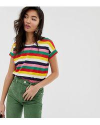 Esprit Multi Stripe Crew Neck T-shirt - Multicolour