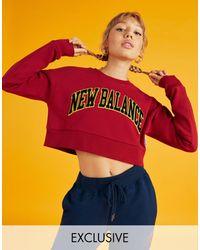 New Balance Universiteits Sweatshirt - Rood