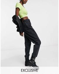 Reclaimed (vintage) Inspired - The '92 - Mom jeans comodi neri - Nero