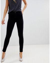 J Brand - Maria High Rise Velvet Skinny Jeans - Lyst