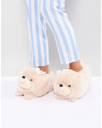 New Look Chow Chow Slipper - Brown