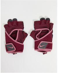 Nike Guantes rosas deportivos premium para mujer