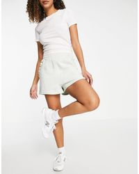 & Other Stories Organic Cotton Frill Edge Jersey Shorts - White