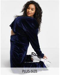 Fashionkilla Exclusive Velour Wide Leg Trouser Co Ord - Brown