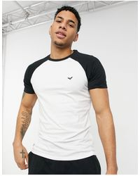 Threadbare Contrast Sleeve T-shirt - White