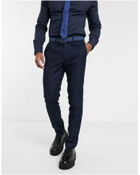 TOPMAN Skinny Suit Trousers - Blue