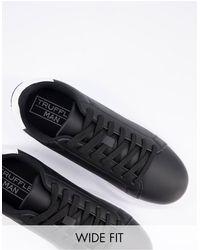 Truffle Collection Sneakers a pianta larga con suola spessa nere - Nero