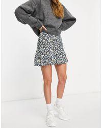 Motel Mini Flippy Skirt - Blue