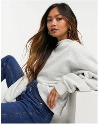 Weekday Amaze Organic Cotton Oversized Sweatshirt - Grey