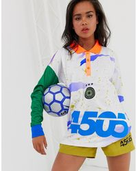 ASOS 4505 - Football T-shirt With Long Sleeve And Collar - Lyst