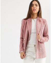 B.Young Double Breasted Blazer - Pink