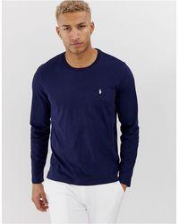 Polo Ralph Lauren Top à manches longues en coton souple - Bleu marine