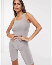 Fashionkilla Unitard - Grey