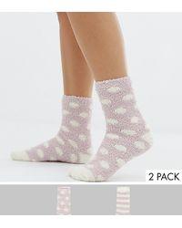 New Look Набор Из 2 Пар Носков-слиперов - Многоцветный