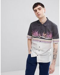 Volcom - Algar Shirt With Contrast Panel Print - Lyst