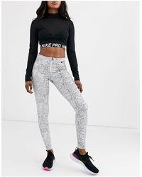 Nike White Snake Print High Waist leggings