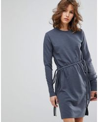Lost Ink - Long Sleeve Dress With Ties - Lyst