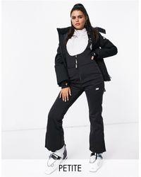 ASOS 4505 Petite Ski High Waisted Salopette - Black