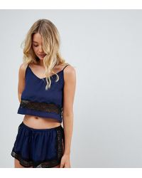 Wolf & Whistle - Navy Cami And Short Pyjama Set - Lyst