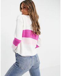 UNIQUE21 Бело-розовый Кардиган С V-образным Вырезом -белый