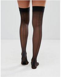 Jonathan Aston Backseam And Heel Stockings - Black