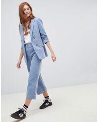 New Look - Corduroy Crop Pants Two-piece - Lyst