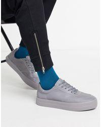 Bershka Sneakers grigie catarifrangenti - Metallizzato