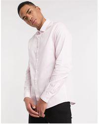 TOPMAN Розово-белая Рубашка В Полоску С Длинными Рукавами -розовый - Многоцветный
