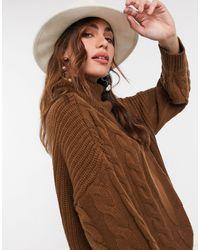 AX Paris - Jersey marrón chocolate - Lyst