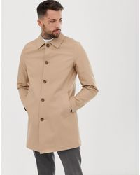 ASOS Shower Resistant Single Breasted Trench - Natural